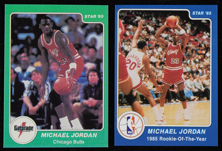 1986 Star Michael Jordan Player Set Player Collectors Showcase