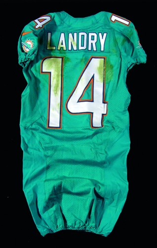 jarvis landry game used jersey